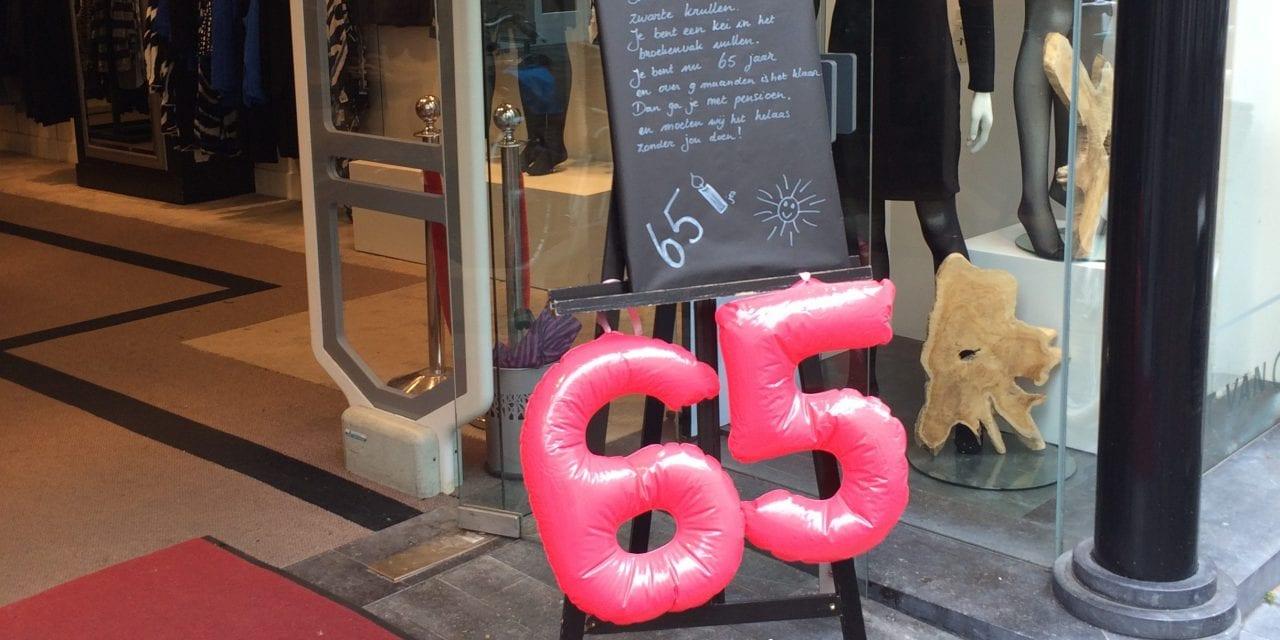 Modeverkoopster (65) is felicitatie waard