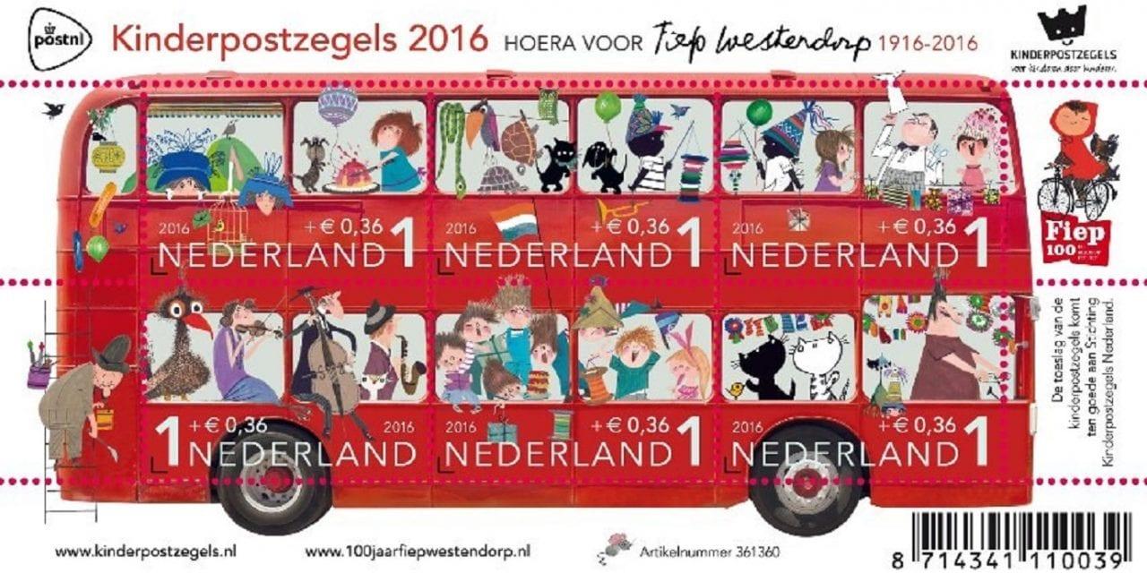 Voor 93ste keer kinderpostzegels:  Fieperdepiep Hoera!