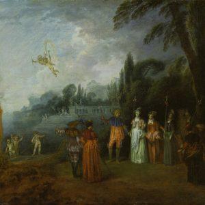 Antoine Watteau, Inscheping voor Cythera (1709-1712) Städel Museum, Frankfurt am Main.