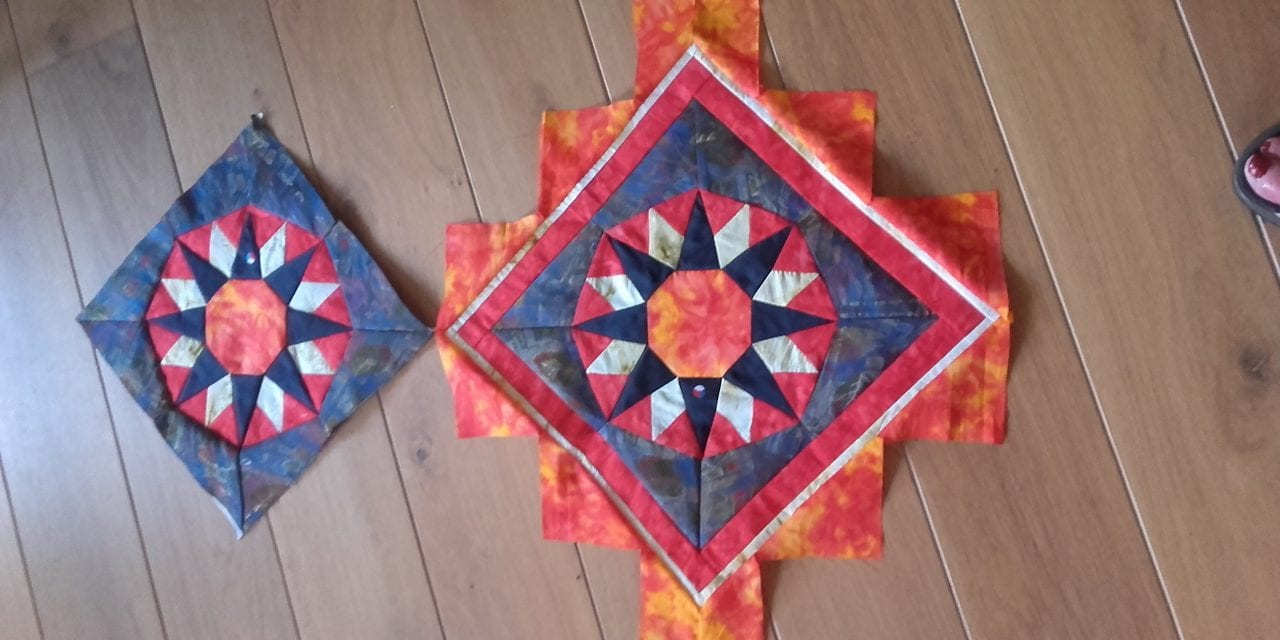Na mantelzorg herinnering in rouwquilt