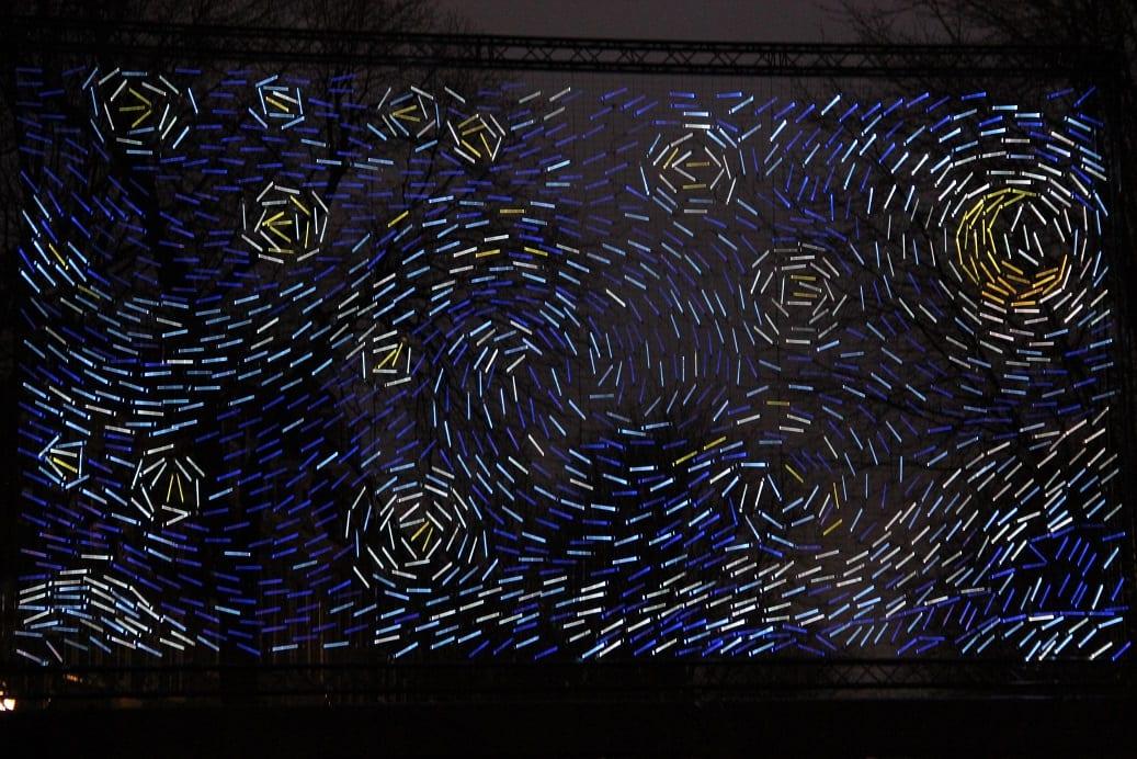 Starry night Ivan Jelic & Pavle Petrovic geïnspireerd door Van Gogh.