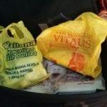 Plastic tasjes als  vakantiesouvenir
