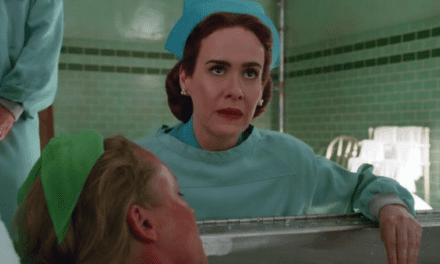 Nurse Mildred Ratched engel in kleurrijke hel