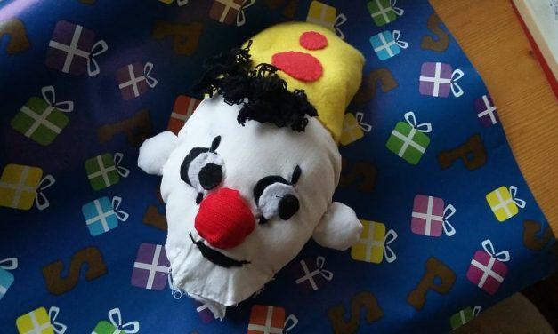 Clowntje Bumba na Sinterklaas verder als lappenpop