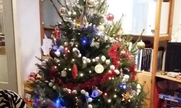 Nog even genieten van drie generaties-Kerstboom